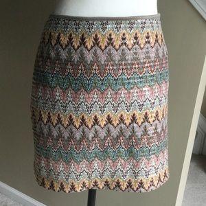 Express sz large patterned skirt